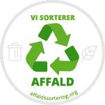 Vi sorterer affald